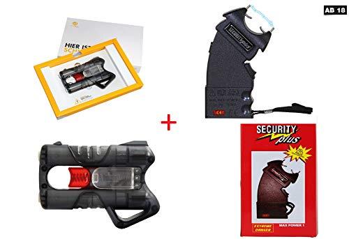 KOSxBO Elite Set Elektroschocker + Guardian Angel 3 Pfefferspray Pistole (mit PTB) Tierabwehrgerät -
