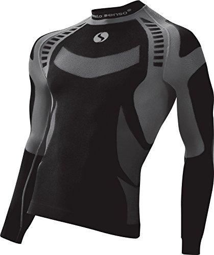 Sesto Senso Herren Funktionsunterwäsche langarm Shirt Thermoaktiv (Medium, Grigio)