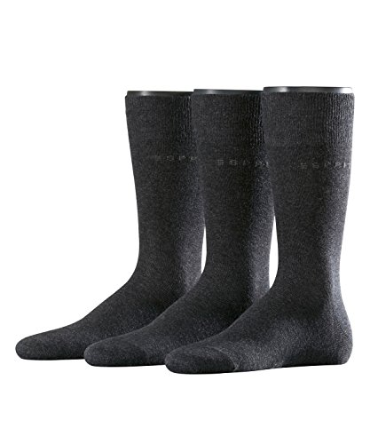 ESPRIT Herren Socken Uni Mix 3er Pack Grau (Anthrazit Meliert 3080), 40/46