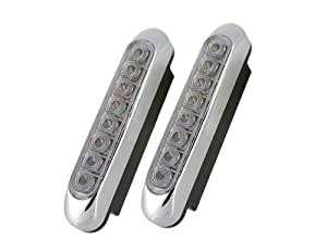 YCL-646 2pcs 8 LED lumi è re blanche de d é coration de voiture Ampoule