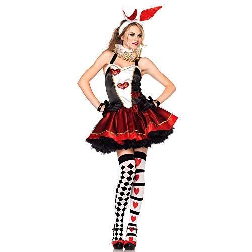 SHENLIJUAN Sexy Bunny Kostüme für Frauen Halloween Bunny Costumes (Color : Red, Size : Einheitsgröße)