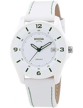 Boccia Damen-Armbanduhr Ceramic Analog Quarz Leder 3226-04