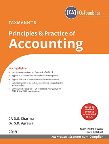 Principles & Practice of Accounting (CA-Foundation)(Nov 2019 Exam ...