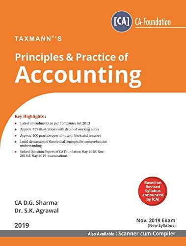 Principles & Practice of Accounting (CA-Foundation)(Nov 2019 Exam ...