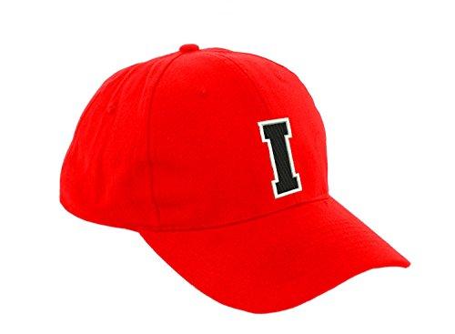 Unisex Jungen Mädchen Mütze Baseball Cap ROT Hut Kinder Kappe Alphabet A-Z Morefaz TM (I) (Snapback Hut Lakers)