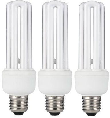 3 x STATUS 20W (=100W Equivalent) E27 ES CFL Energy Saving Light Bulb, Edison Screw, 1200 Lumen, 10 Years, 827 2700K Warm White Compact Fluorescent Stick Lamp, Low