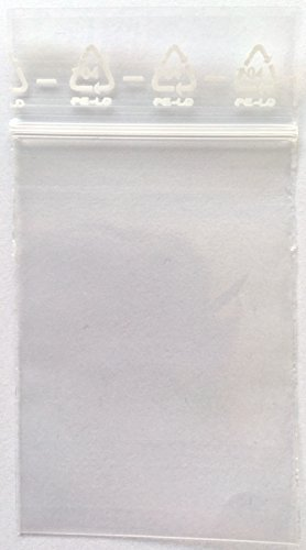Preisvergleich Produktbild ZIP Beutel 60x80 mm, 50µ, 1000 Stück, Druckverschluss Beutel, Zip Bag, Zip Tütchen, zipper
