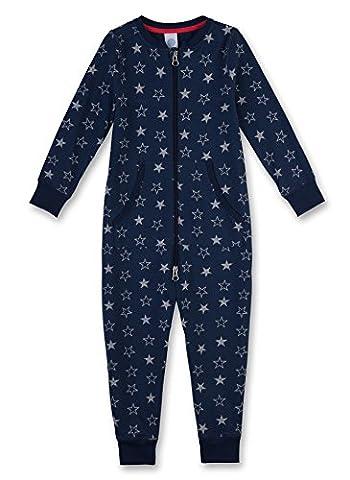 Sanetta Jungen Einteiliger Schlafanzug 231994, Blau (Dark Blue 50244), 140