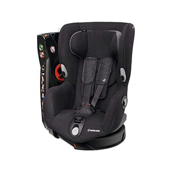 Maxi-Cosi Axiss Swiveling Toddler Car Seat, Extra Secure Fit, Reclining, 9 Months-4 Years, 9-18 kg, Triangle Black Maxi-Cosi Toddler car seat, suitable from 9 months to 4 years (9-18 kg) Swivels 90 degrees allows for front-on access to get your toddler in and out of the car more easily Maxi-Cosi Axiss car seat has eight comfortable recline positions 1