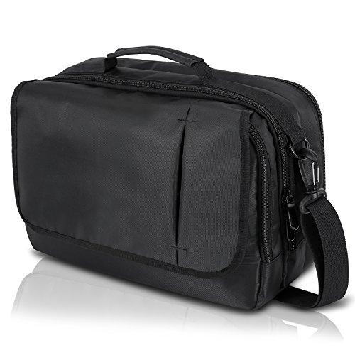Notebook Tasche für PC DVD-Player mit ZWEI Monitore 9 10,1 Zoll Aktentaschen Schultertaschen Schwarz