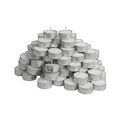 200 x IKEA Glimma candles / tealights (WHITE, 200)