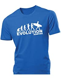 iClobber Surfing Evolution Men's T Shirt funny tshirt surf surfer board