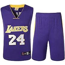 ea6f2f9497912 Tenue de Basketball Lakers N ° 24 Kobe Bryant NBA pour Homme