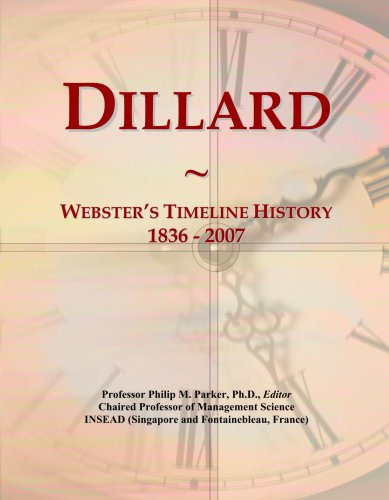 dillard-websters-timeline-history-1836-2007
