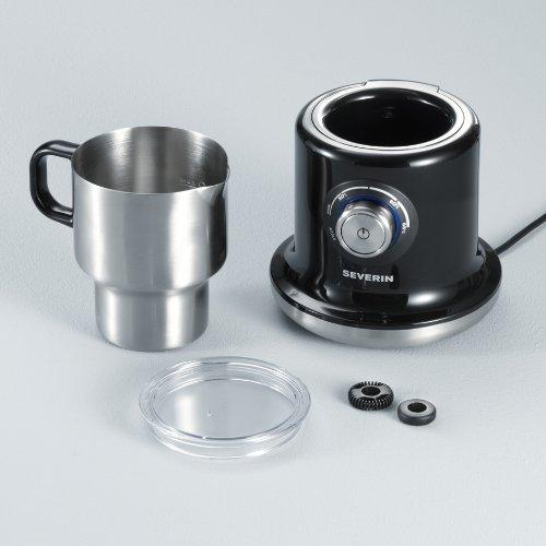 Severin - 9688 - Emulsionneur de lait àinduction - 500 W - 700 ml - inox brossé / noir