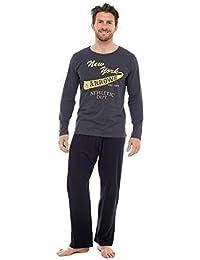 Hommes Set Pyjama Haut À Manches Longues Et Pantalon Pyjama Coton
