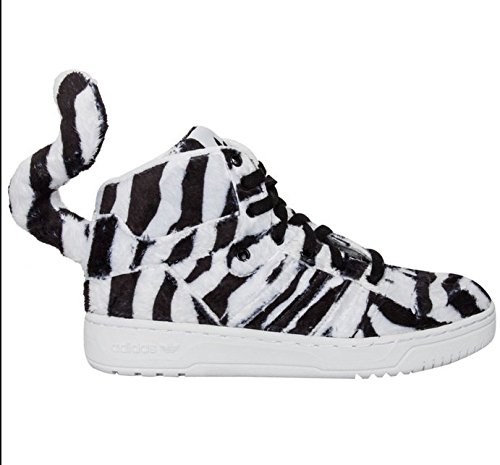 ADIDAS ORIGINALS JEREMY SCOTT TIGRE BLANC CHAUSSURE BASKET REF- B26037