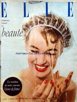 ELLE [No 475] du 17/01/1955 - BEAUTE - CONCOURS - VISAGES DE FRANCE