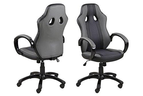 Rabatt-lift Stühle (homestreet 'Hohe Qualität Stilvolles Schreibtisch Stuhl Luxus Bürostuhl mit Leder Optik Polsterung und Gas Lift Funktion, gebogen für mehr sitzend)