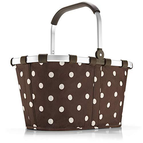 Reisenthel carrybag Mocha Dots - BK6018+ braun Mokka Punkte - Design Einkaufskorb Korb Shopper braun mit Pünktchen