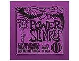 Ernie Ball Power Slinky Jeu de cordes pour guitare électrique (Taille 0.11–0,48)