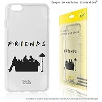 FunnyTech® Funda Silicona para iPhone 6 /iPhone 6S [Gel Silicona Flexible Alta Calidad] [Ultra Slim 1,5mm-Gran Resistencia] [Diseño Exclusivo, Impresión Alta Definición] [Serie Friends Silueta vers.1 Transparente]