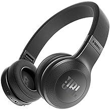 JBL E45BT  - Auriculares Supraaurales Inalámbricos Plegable Incluye Cable de Tela con Universal de 1Botones de Mando a Distancia con Micrófono Integrado, negro