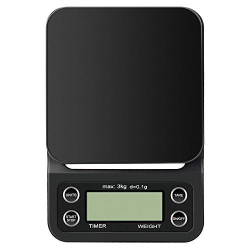 Anpress Digital-Kaffee-Skala mit Timer, 6.6lb / 3000g, elektrische Schmuckskalen - Skala-timer