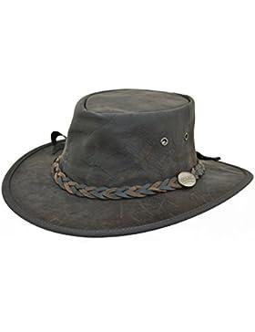 Barmah - Sombrero plegable blando de canguro, marrón agrietado (1018)