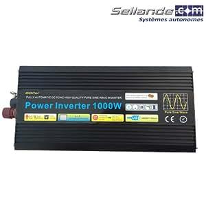 Convertisseur solaire pur sinus PSW 12V- 230V - 1000W - Expédié depuis la France