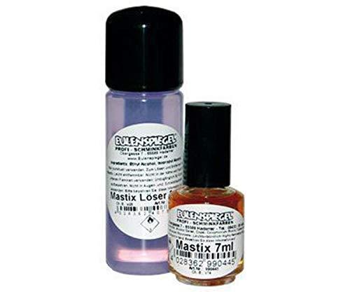 Eine Reihe Von Mastix Kleber 7 ml Und Mastix-Entferner 30ml Spirit Gum, Eulenspiegel, EU 999493 (Gum Spirit Kleber)