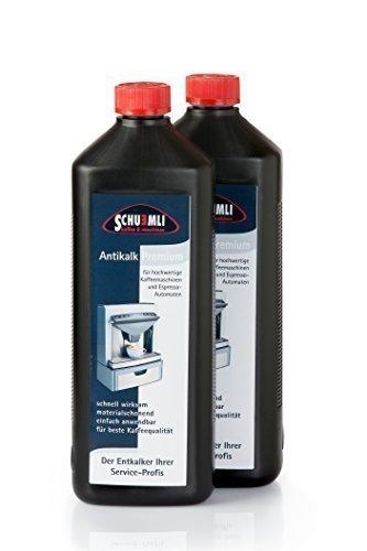 SCHUEMLI Antikalk Premium Entkalker   Spezial- Kalklöser für Kaffeevollautomaten und Espresso-Maschinen   2 x 1000 ml Flüssigkeit