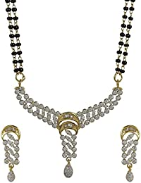 Muchmore White Metal Mangalsutra Jewellery Set For Women