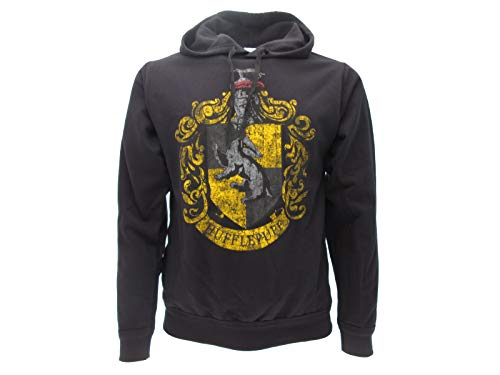 Sudadera con Capucha Hoodie Hufflepuff de Harry Potter - 100% Original y Oficial Warner Bros (L Large)