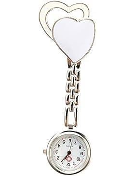 SSITG Herz Krankenschwesteruhr Quartzuhr Schwesternuhr Taschenuhr Kitteluhr Uhr