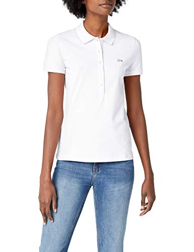 Lacoste Damen Poloshirt Pf7845 , Weiß (Blanc) , 42
