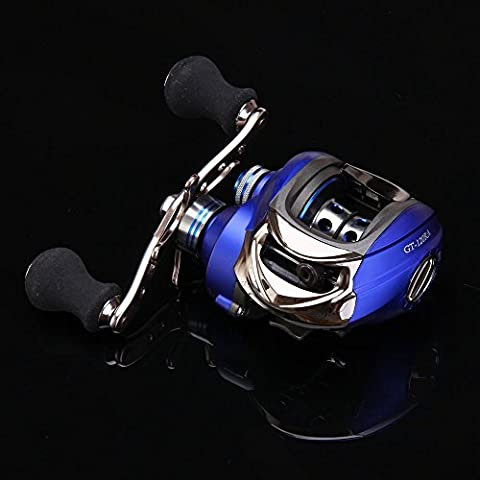 Entsport Titanium Alloy Casting Reel Saltwater Low Profile Baitcast Reel 10+1 Ball Bearings Baitcasting Reel Super Smooth Baitcaster Reel Right/Left Handed Baitcaster Fishing Reel Baitcaster (Droite)