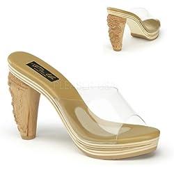 Pin Up Couture TIKI-100 Clr Lucite UK 5 (EU 38)
