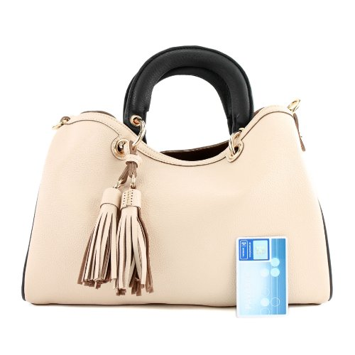 Tragetasche Lederimitat Champagner Kunstledertasche Handtasche Tasche Damentasche LK711 4vxwCAaw8q