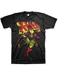 Officiellement Marchandises Sous Licence Marvel Comics X-Men Distressed 3XL,4XL,5XL Hommes T-Shirt (Noir)