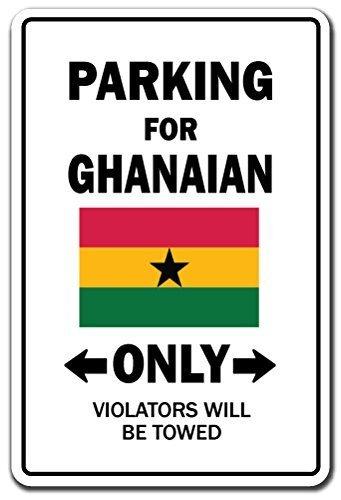 Zitat Aluminium Parking für ghanaische nur National Pride Schild Flagge Ghana National Pride Love Dekoration Metall Geschenk Schild, Dekoration