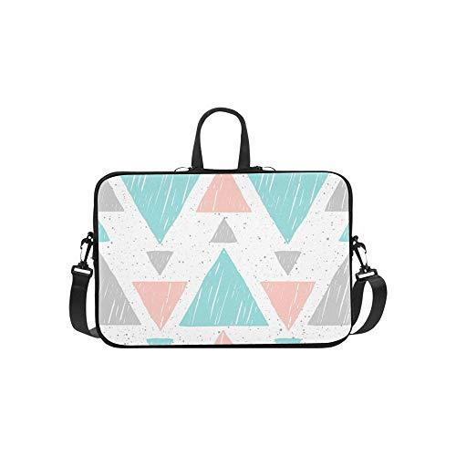 Nahtlose Dreieck (Gekritzel-Dreieck-Nahtlose abstrakte Blaue Muster-Aktenkoffer-Laptoptasche-Kurier-Schulter-Arbeitstasche Crossbody-Handtasche für das Geschäftsreisen)