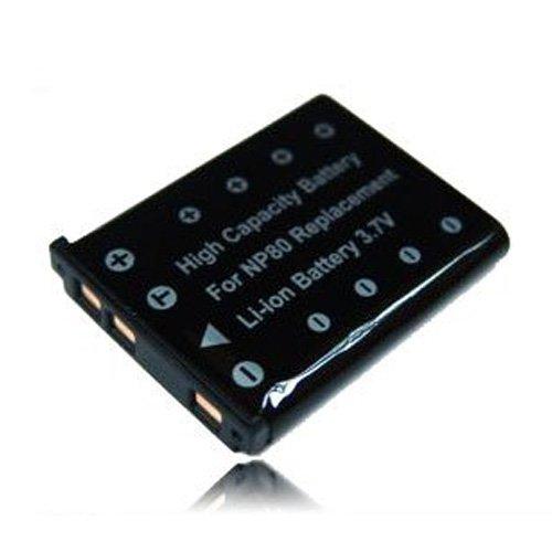 weltatec Qualitätsakku Akku Accu Digicam kompatibel mit Casio Exilim EX-H5 EX-ZS100 / NP-80 Digitalkamera - Hochleistungsakku Li-ion Akku Ersatzakku Kamera-Akku - (nur Original weltatec mit Hologramm)