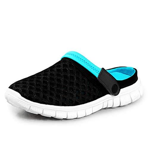 DoGeek Zuecos Verano Antideslizante Zapatillas de Jardin Ventilación de Malla Ligeros Sandalias Playa Ahueca hacia Sandalias