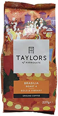 Taylors of Harrogate Brasilia Ground Coffee, 227 g (Pack of 6) by Bettys & Taylors of Harrogate Limited