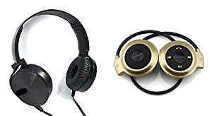 MIRZA Extra Extra Bass XB450 Headphones & Bluetooth Headset for SONY xperia go(XB 450 Headphones,With MIC,Extra Bass,Headset,Sports Headset,Wired Headset & Mini 503 Bluetooth Headset,Sports Headset,Gym Headset )