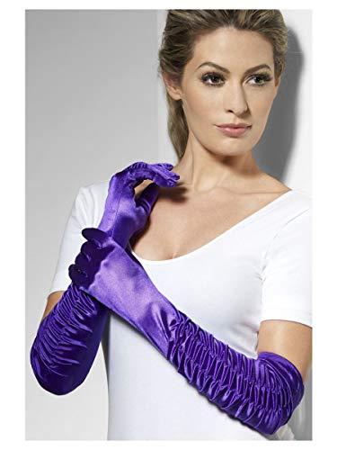 Verführerin Handschuhe Violett Lang, One Size (Eine Jessica Rabbit Kostüm)