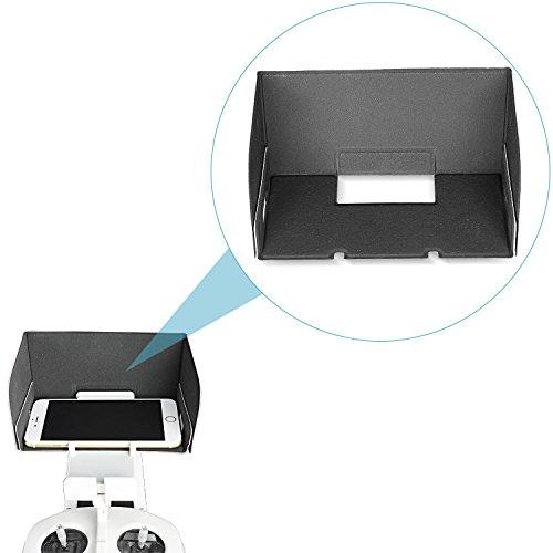 Neewer® DJI Inspire 1/Phantom 3coperchio paraluce di telecomando Monitor per Smartphone, compatibile con iPhone 6Plus/6/5/5S/4/4, Samsung Galaxy S6EDGE/S6/S5/S4/S3/A7/A5, Galaxy Note 4/3/2