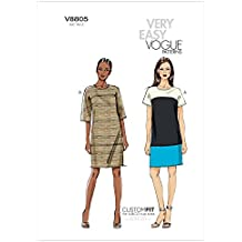 Vogue Patterns V8805 - Patrones de costura para vestidos de mujer (tallas 36 a 44
