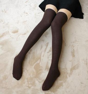 GAMBE CALZE Strisce verticali per autunno/inverno calzini lungo tubo/solido colore cotone/calze/calzini del ginocchio contratta alla fine di scaldamuscoli , 5